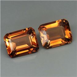 Natural Imperial Champagne Topaz Pair