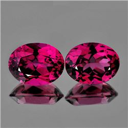 Natural Raspberry Pink Rhodolite Garnet Pair - FL