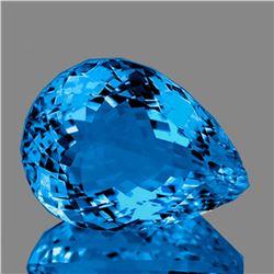 Natural Magnificent AAA Swiss Blue Topaz 25x19 MM - FL