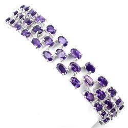 Natural  AAA Intense Purple Amethyst 103 Cts Bracelet