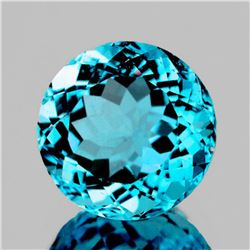 NATURAL GREENISH BLUE TOPAZ 13.00 MM [FLAWLESS-VVS]