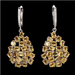 Natural Top Rich Yellow Citrine Earrings
