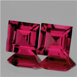 Natural Raspberry Pink Rhodolite Garnet Pair