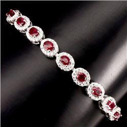 Natural Top Blood Red Ruby Bracelet