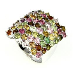 Natural Top Fancy Color Tourmaline Ring