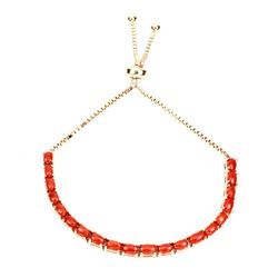 Natural Oval Orange Italian Coral Bracelet