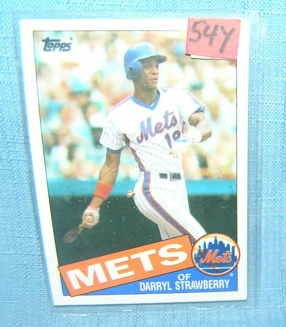 Darryl Strawberry vintage all star baseball card