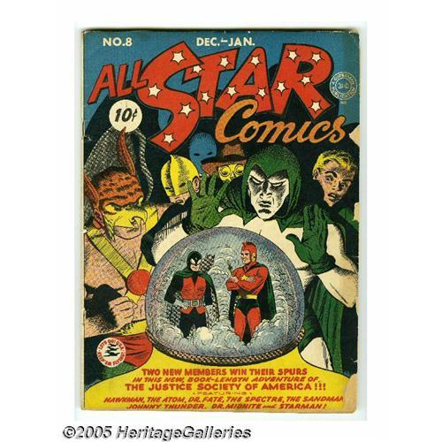 All Star Comics #8 (DC, 1942) Condition: GD  It''s the