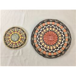 Two Vintage Hopi Wicker Baskets