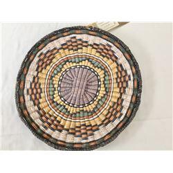 Hopi Wicker Basket with Ribbon