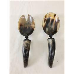 Vintage Handmade Horn Ladles