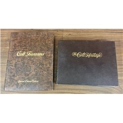 Two Collectible Leather Bound Colt Pistols Books