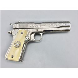 David Harris Engraved 1911 With Ivory Grips