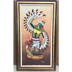 Original Jimmy Yellowhair Oil Painting