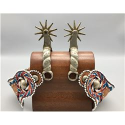 Buermann Spurs with Beaded Straps
