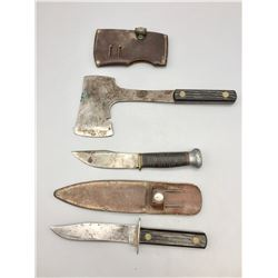 Boy Scout Hatchett and Two Knives