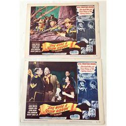 Two John Wayne Movie Lobby Cards