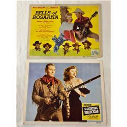 John Wayne and Roy Rogers Lobby Cards