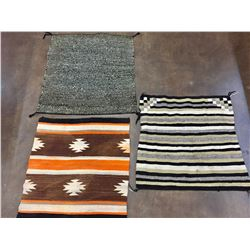 Group of Three Saddle Blankets