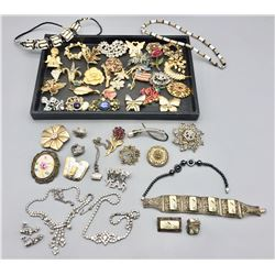 Group of Costume Jewelry - Some Sterling