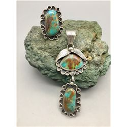 Matching Turquoise Pendant and Ring