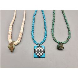 Group of Three Necklaces