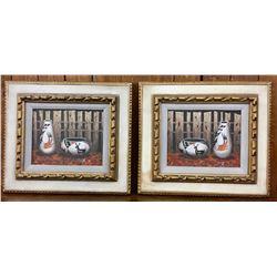 Two Original Jimmy Yellowhair Paintings