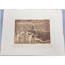 Original Edward Curtis Print on Velum