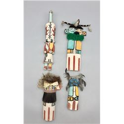 Four Hopi Flat Dolls