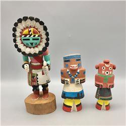 Three Hopi Kachinas