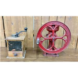 Two Antique Grinders
