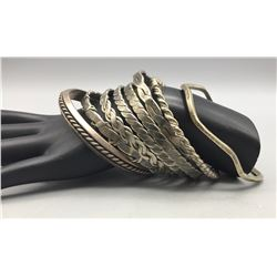 Group of Eight Bangle Bracelets