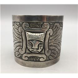 Extra Wide Sterling Silver Cuff Bracelet