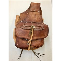 Pair of Vintage Leather Saddle Bags