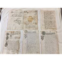 Group of Original Spanish Colonial Documents