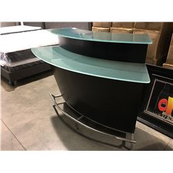 2 TIER GLASS TOP SMALL BAR UNIT