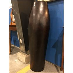 "LARGE BROWN FINISH DECORATIVE VASE - 44.5"" HIGH X 14"" WIDE"