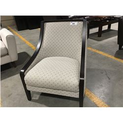 BROWN & BEIGE CONTEMPORARY ACCENT CHAIR