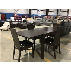 "5 PCE CONTEMPORARY DINING ROOM SET - CONVERTS FROM 36"" TO 71"" TABLE TOP LENGTH"