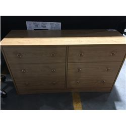 6 DRAWER WOOD FINISH DRESSER