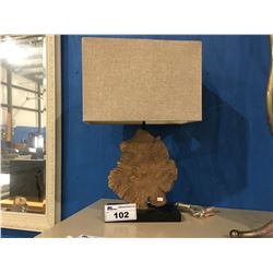 BURL WOOD CONTEMPORARY TABLE LAMP