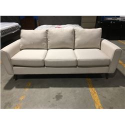 CONTEMPORARY OFF-WHITE UPHOLSTERED 3-SEATER SOFA