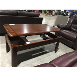 3 PCE LIFT-TOP COFFEE TABLE & 2 MATCHING END TABLE SET
