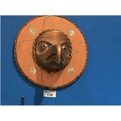 CARVED COPPER EAGLE MOONMASK 2' DIAMETER BY FIRST NATIONS  ARTIST MATHEW ESQUEGA