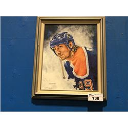 FRAMED GICLEE OIL ON CANVAS TRANSFER PRINT WAYNE GRETZKY # 99 SIGNED LIMITED EDITION 50/150