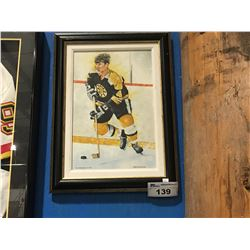 FRAMED GICLEE OIL ON CANVAS TRANSFER PRINT BOBBY ORR  # 4 SIGNED LIMITED EDITION 51/150