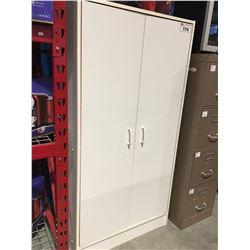WHITE 2 DOOR PANTRY CUPBOARD