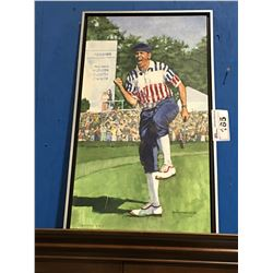FRAMED GICLEE OIL ON CANVAS TRANSFER PRINT GOLFER PAYNE STEWART SIGNED LIMITED EDITION 50/150 BY