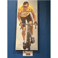 GICLEE OIL ON CANVAS TRANSFER PRINT LANCE ARMSTRONG  SIGNED LIMITED EDITION 50/150 BY