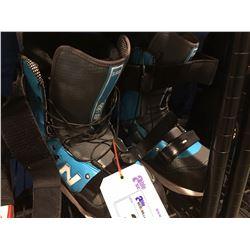 PAIR - NV686 SNOWBOARD BOOTS - GREY & BLUE - MENS SIZE 9